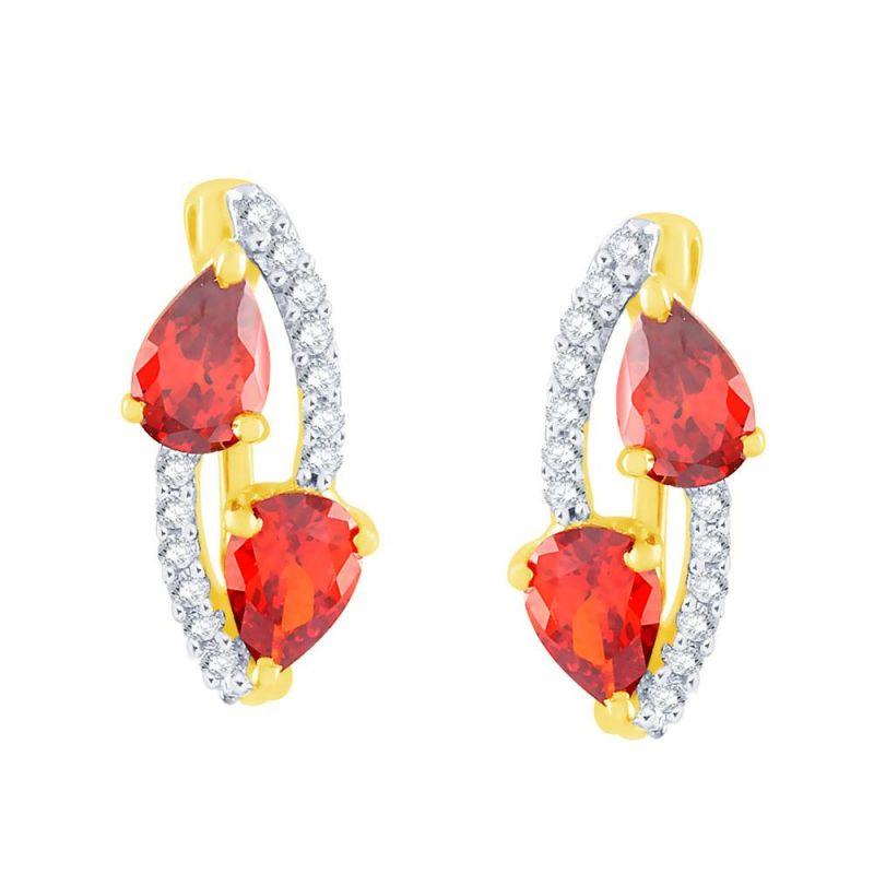 Buy Parineeta Yellow Gold Diamond Earrings Ye372si-jk18y online