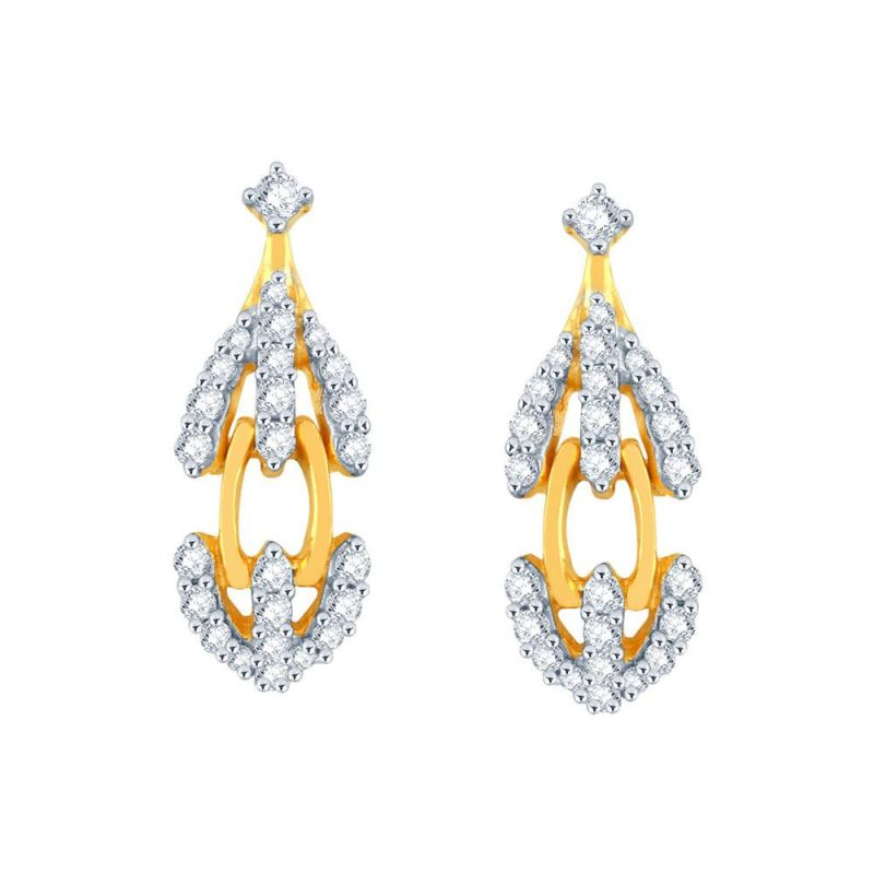 Buy Sangini Yellow Gold Diamond Earrings Baep159si-jk18y online