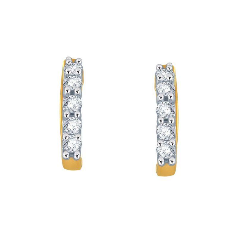 Buy Gili Yellow Gold Diamond Earrings Ee018si-jk18y online