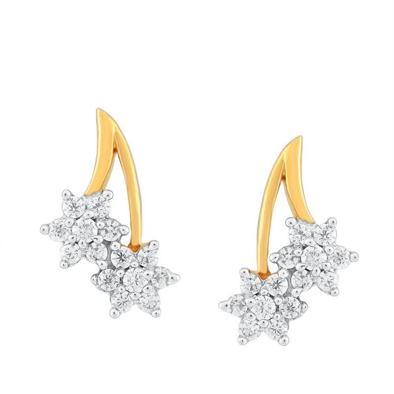 Buy Nakshatra Yellow Gold Diamond Earrings Ge021si-jk18y online