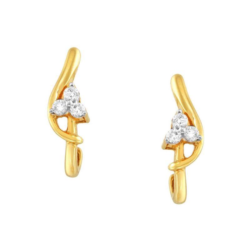 Buy Asmi Yellow Gold Diamond Earrings Ge5998si-jk18y online