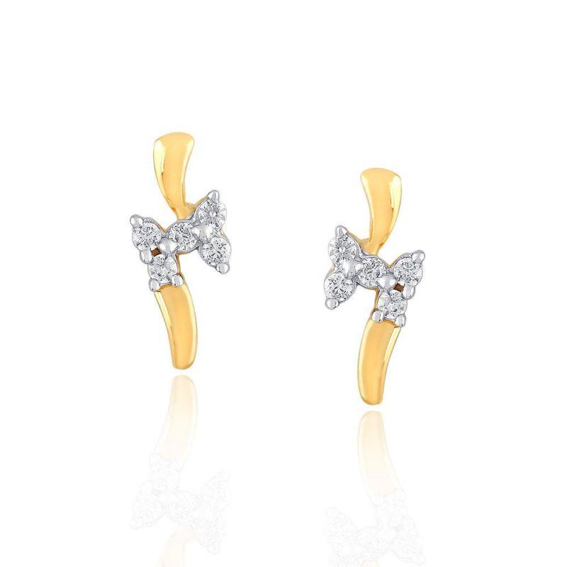 Buy Asmi Yellow Gold Diamond Earrings Ge725046si-jk18y online