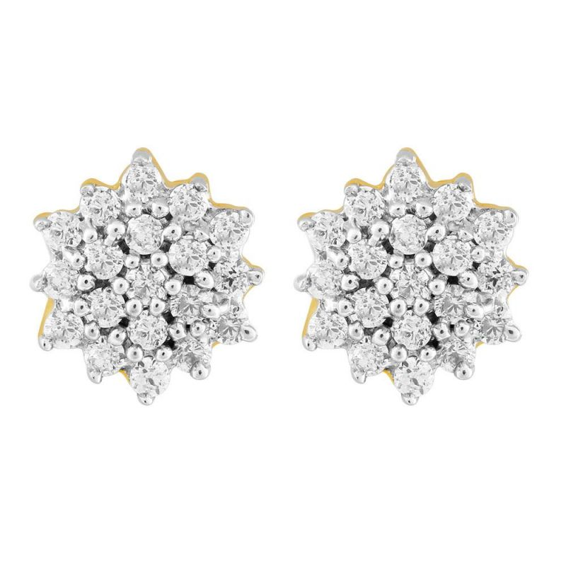 Buy Sangini Yellow Gold Diamond Earrings Gel103si-jk18y online