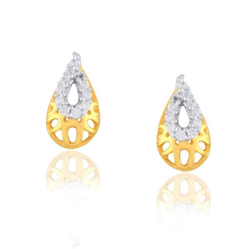 Buy Shuddhi Yellow Gold Diamond Earrings Ide00361si-jk18y online