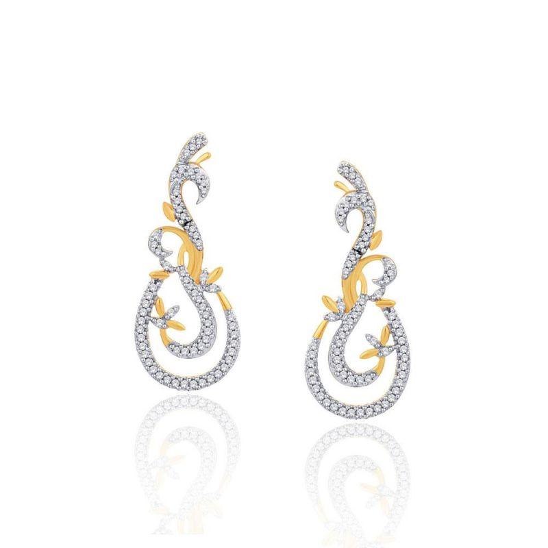 Buy Gili Yellow Gold Diamond Earrings Ide00561si-jk18y online