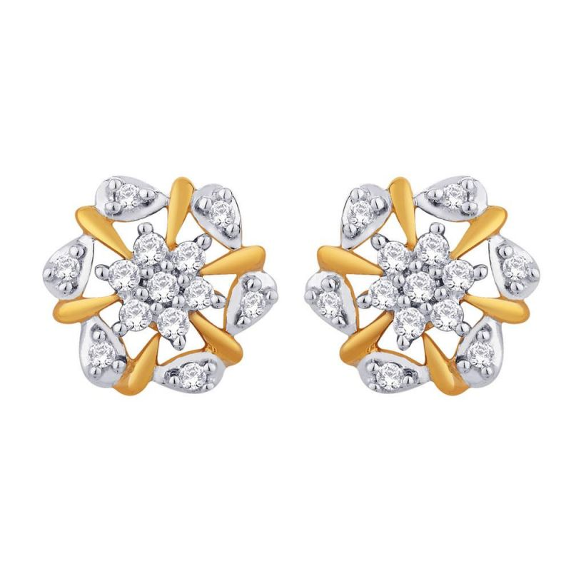 Buy Sangini Yellow Gold Diamond Earrings Ide00662si-jk18y online