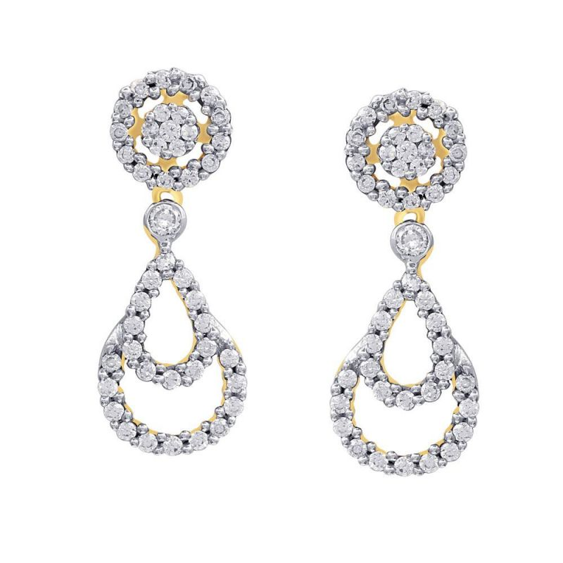 Buy Gili Yellow Gold Diamond Earrings Ie400si-jk18y online