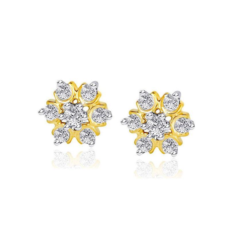 Buy Nakshatra Yellow Gold Diamond Earrings Nera031si-jk18y online
