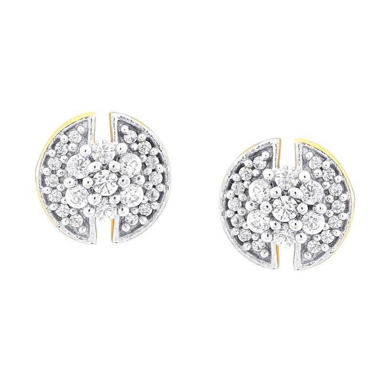 Buy Sangini Yellow Gold Diamond Earrings Nera071si-jk18y online