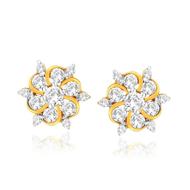 Buy Nakshatra Yellow Gold Diamond Earrings Nera132si-jk18y online