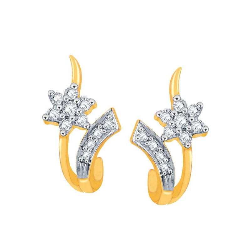 Buy Nakshatra Yellow Gold Diamond Earrings Nera284si-jk18y online