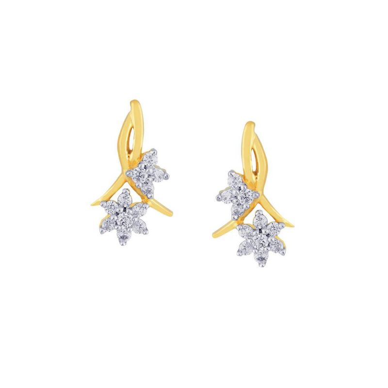 Buy Nakshatra Yellow Gold Diamond Earrings Nera291si-jk18y online