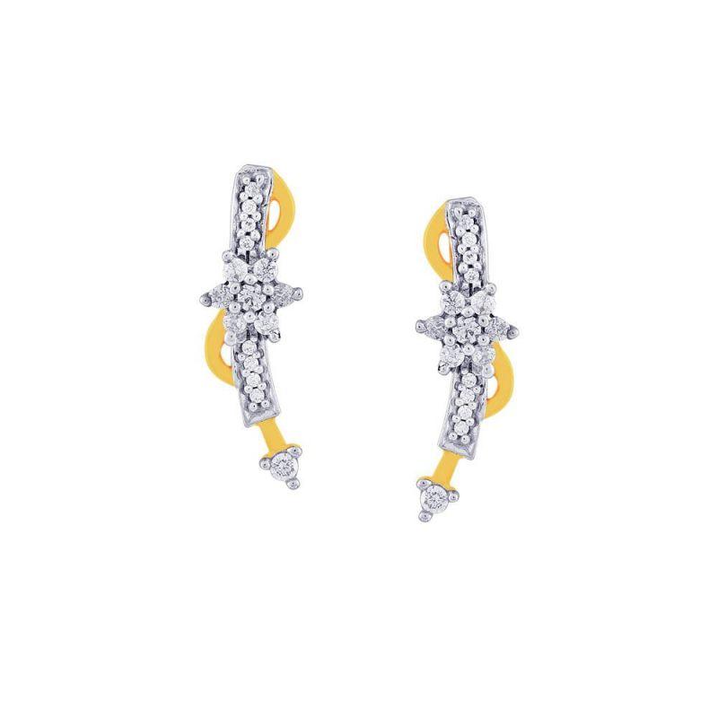 Buy Nakshatra Yellow Gold Diamond Earrings Nera298si-jk18y online