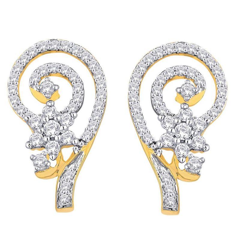 Buy Nakshatra Yellow Gold Diamond Earrings Nera335si-jk18y online