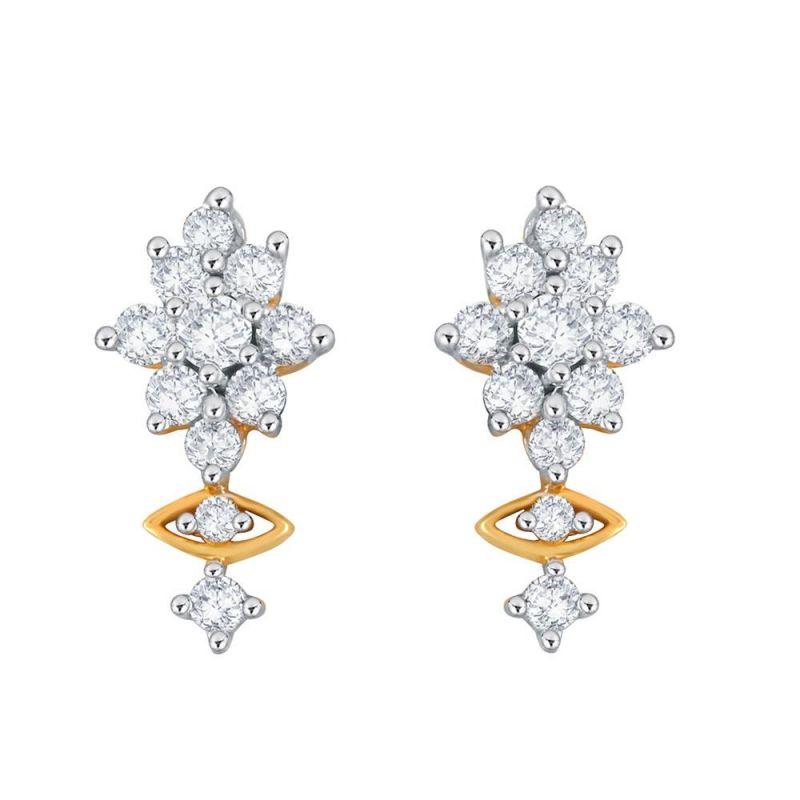 Buy Nakshatra Yellow Gold Diamond Earrings Nerb154si-jk18y online