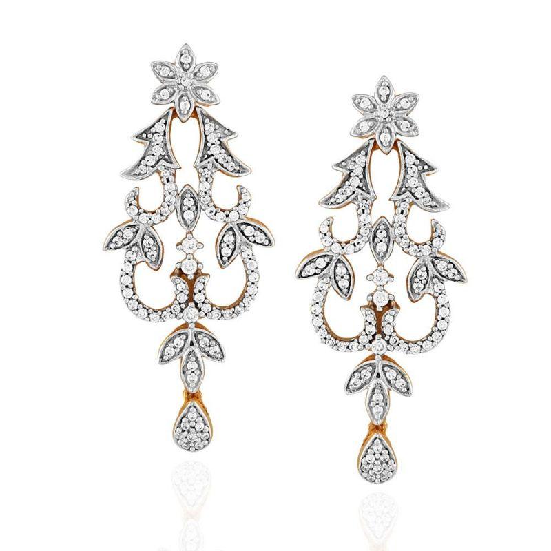 Buy Nakshatra Yellow Gold Diamond Earrings Nerb295si-jk18y online