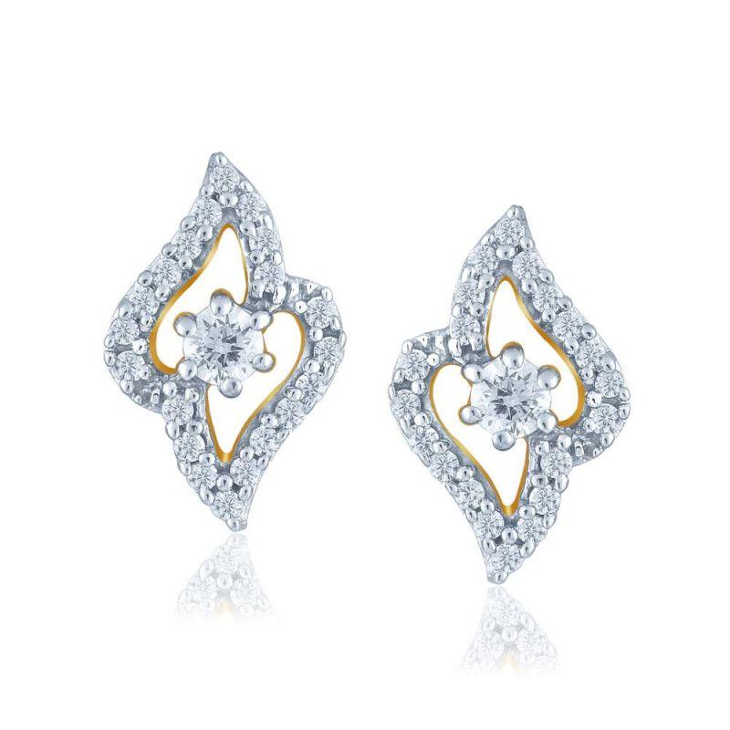 Buy Sangini Yellow Gold Diamond Earrings Nerc618si-jk18y online