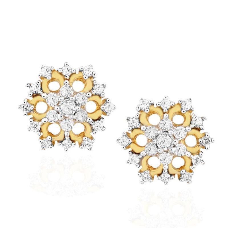 Buy Nakshatra Yellow Gold Diamond Earrings Nerc817si-jk18y online