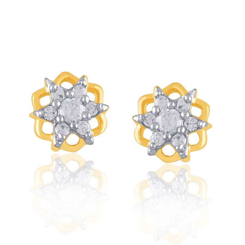 Buy Nakshatra Yellow Gold Diamond Earrings Nnper071si-jk18y online