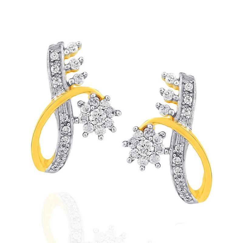 Buy Nakshatra Yellow Gold Diamond Earrings Nrer419si-jk18y online