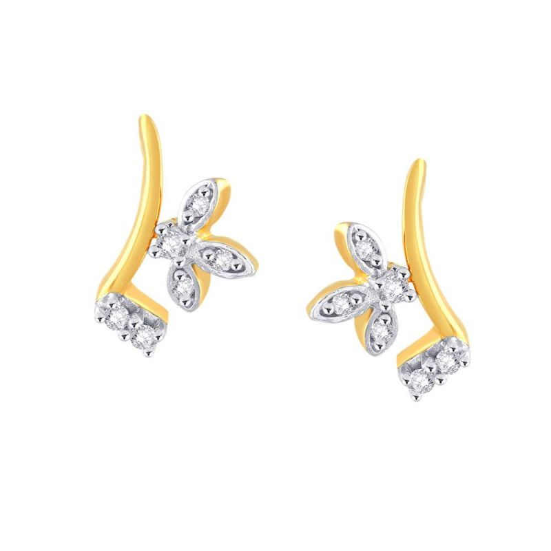 Buy Asmi Yellow Gold Diamond Earrings Pe10503si-jk18y online