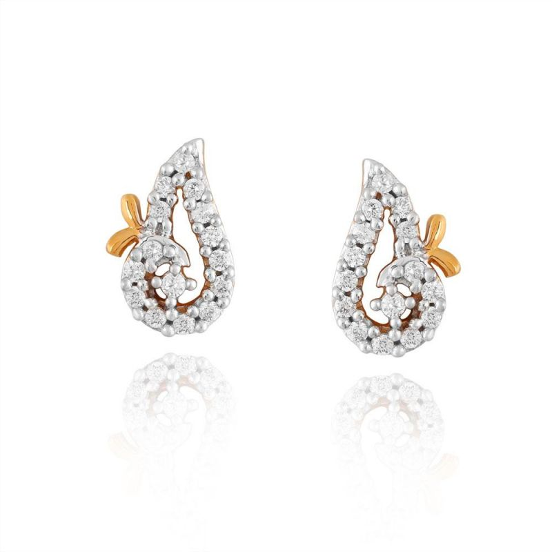 Buy Sangini Yellow Gold Diamond Earrings Pe10685si-jk18y online