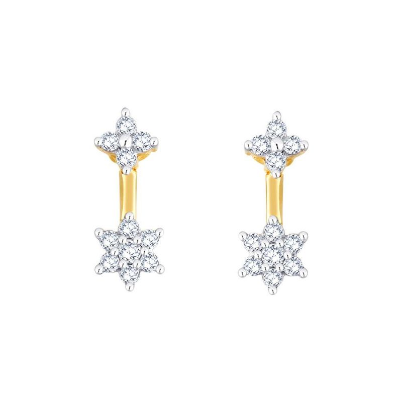 Buy Nakshatra Yellow Gold Diamond Earrings Pe10896si-jk18y online