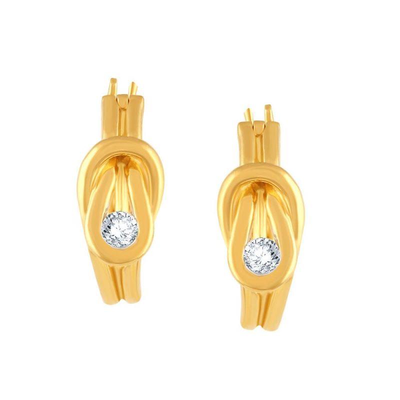 Buy Nirvana Yellow Gold Diamond Earrings Pe10926si-jk18y online