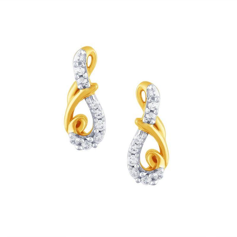 Buy Gili Yellow Gold Diamond Earrings Pe12052si-jk18y online