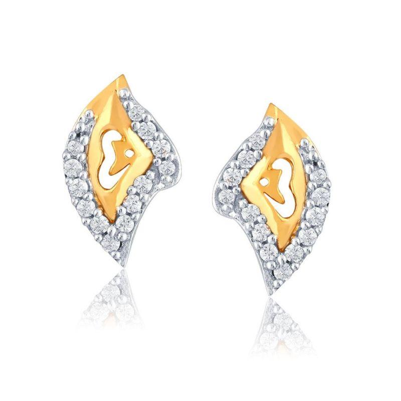 Buy Nirvana Yellow Gold Diamond Earrings Pe13028si-jk18y online