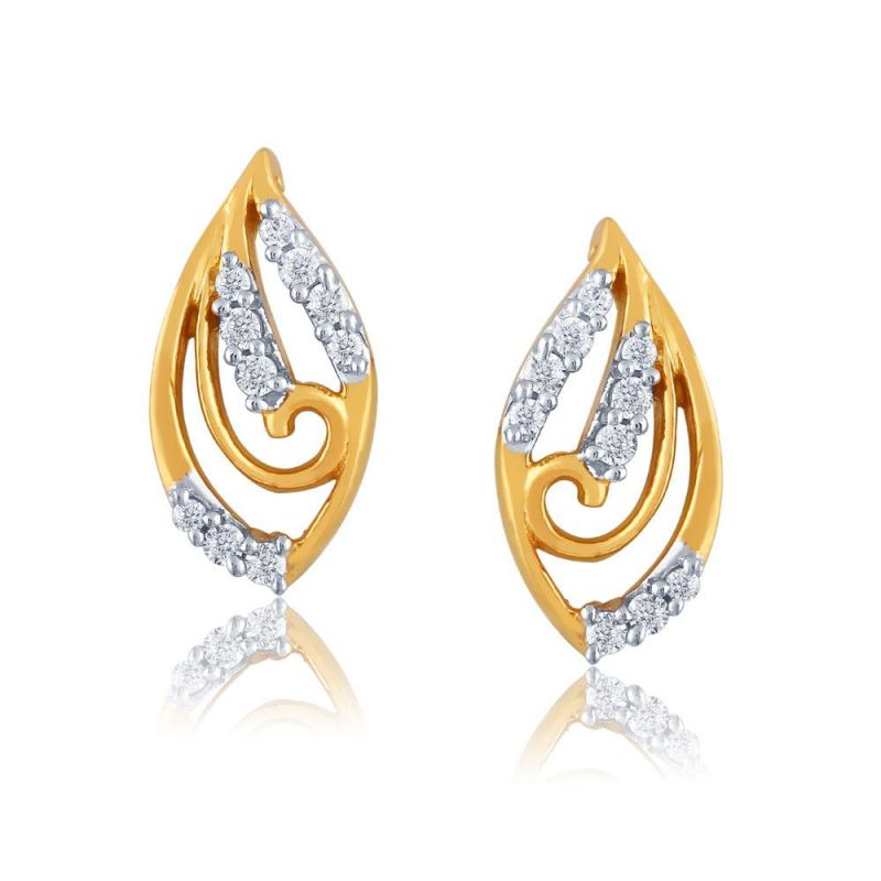 Buy Gili Yellow Gold Diamond Earrings Pe13145si-jk18y online