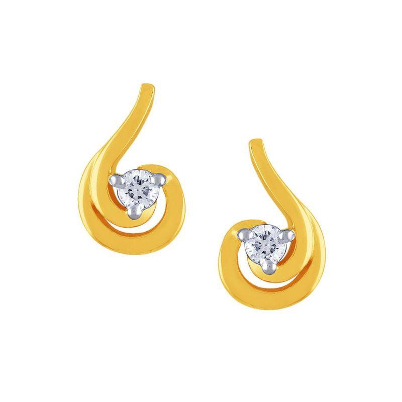 Buy Diya Yellow Gold Diamond Earrings Pe14254si-jk18y online