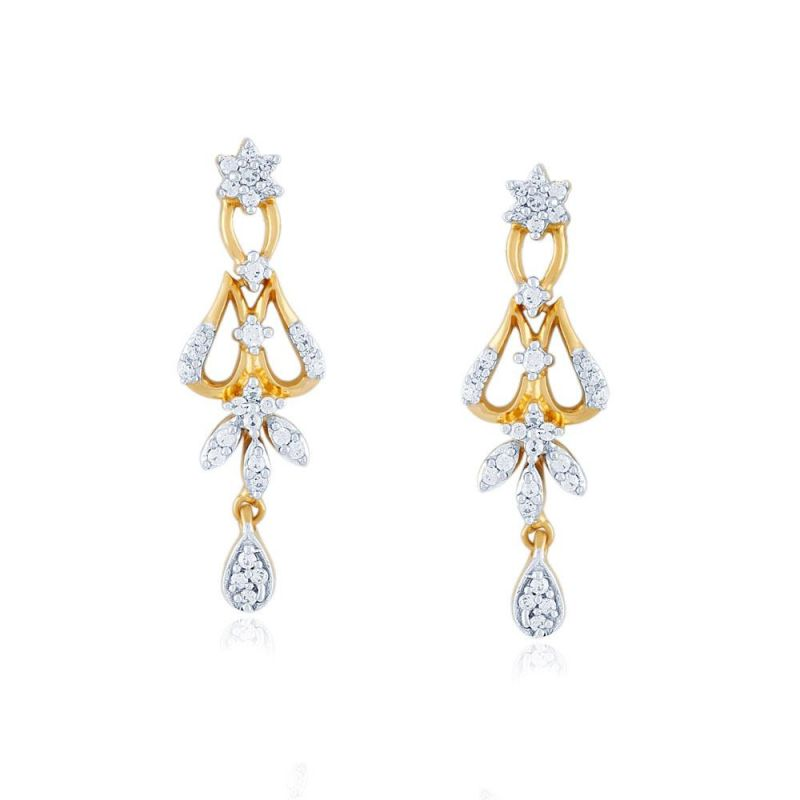 Buy Nakshatra Yellow Gold Diamond Earrings Pe14588si-jk18y online