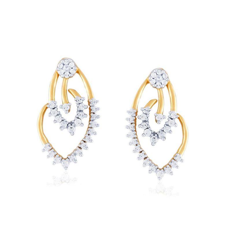 Buy Gili Yellow Gold Diamond Earrings Pe14633si-jk18y online