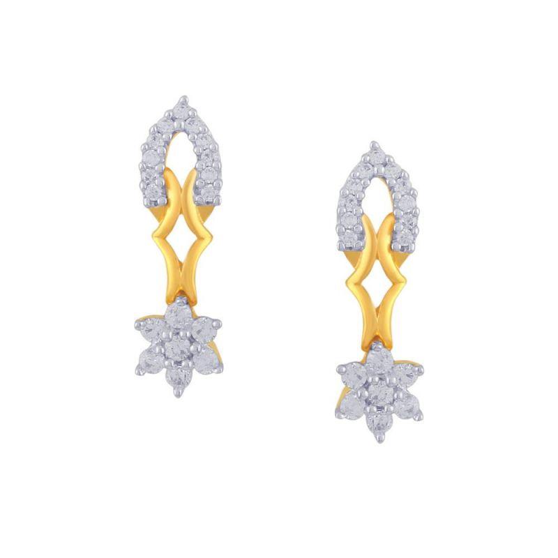 Buy Nakshatra Yellow Gold Diamond Earrings Pe14687si-jk18y online