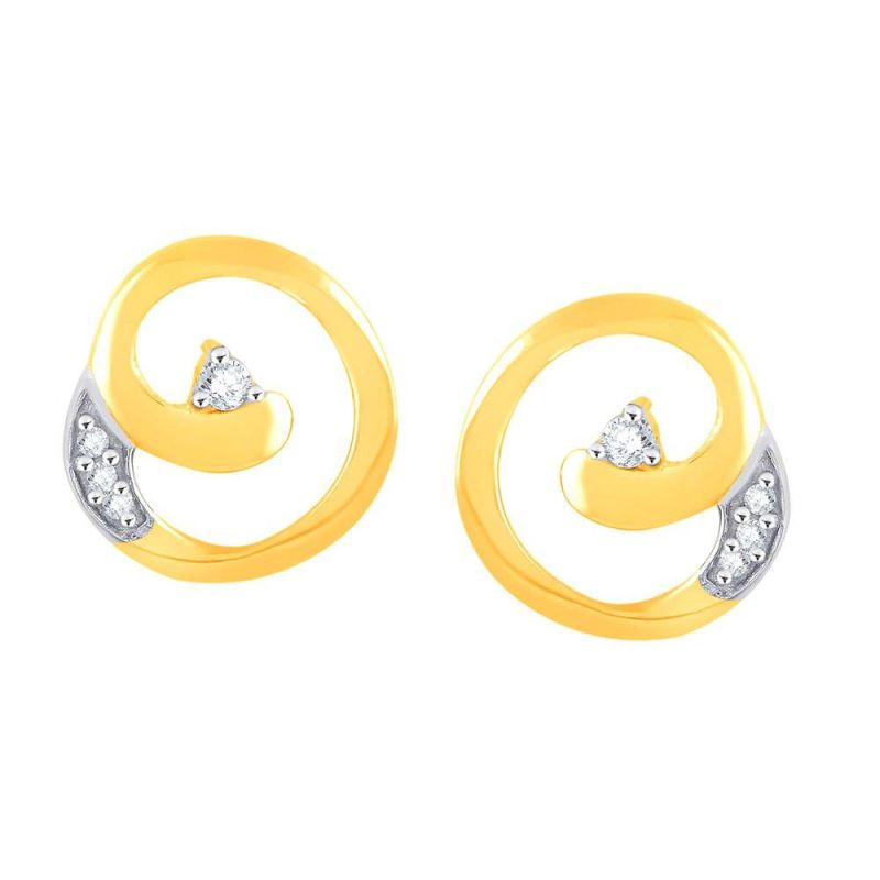 Buy Gili Yellow Gold Diamond Earrings Pe17139si-jk18y online