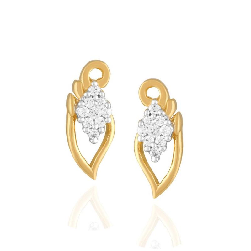 Buy Asmi Yellow Gold Diamond Earrings Pe17653si-jk18y online