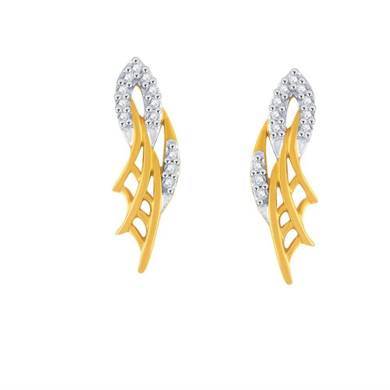 Buy Gili Yellow Gold Diamond Earrings Pe18139si-jk18y online