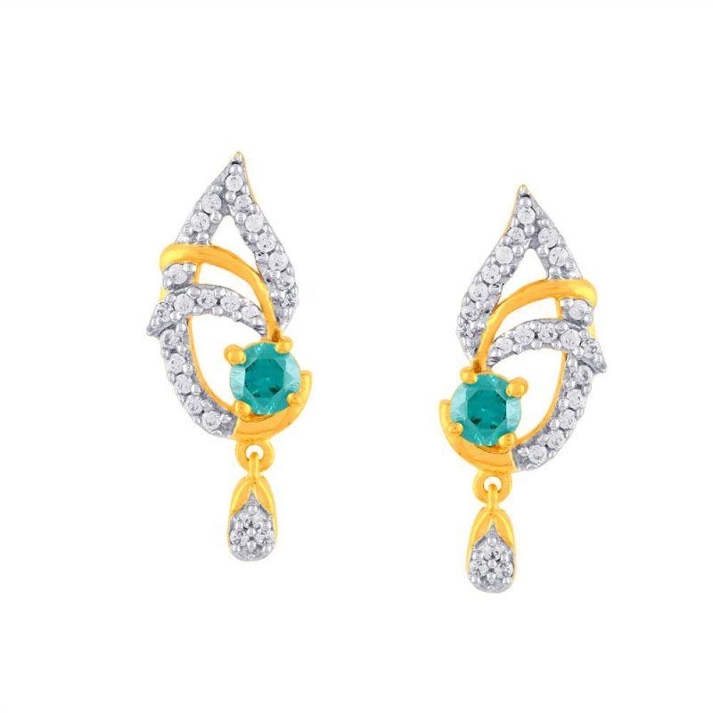 Buy Parineeta Yellow Gold Diamond Earrings Pe18935si-jk18y online