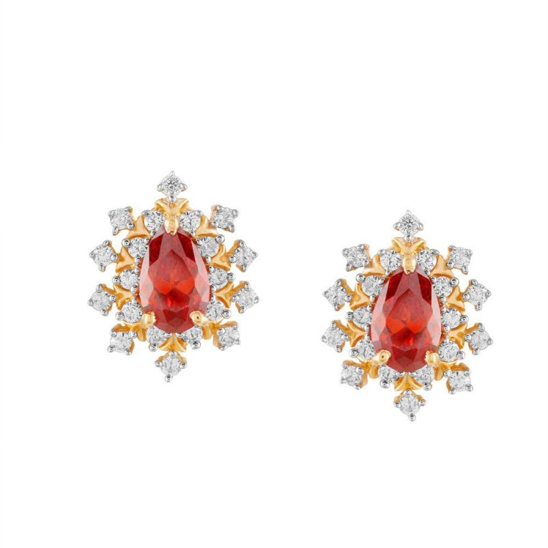 Buy Parineeta Yellow Gold Diamond Earrings online