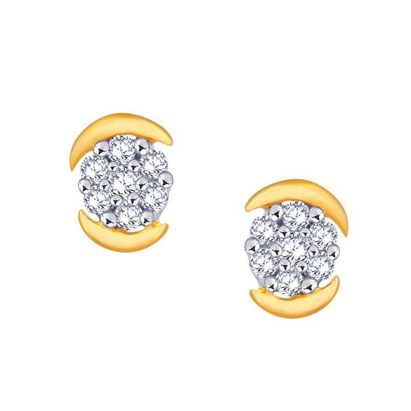 Buy Nakshatra Yellow Gold Diamond Earrings Sae301si-jk18y online