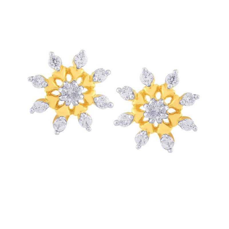 Buy Nakshatra Yellow Gold Diamond Earrings Yem268si-jk18y online