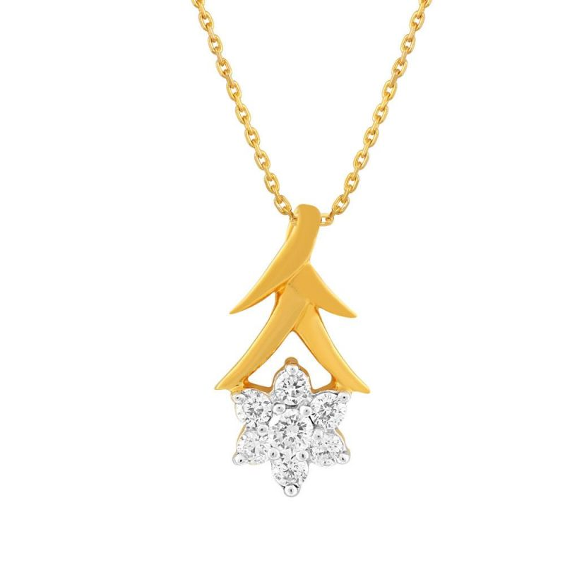 Buy Nakshatra Yellow Gold Diamond Pendant Ap316si-jk18y online