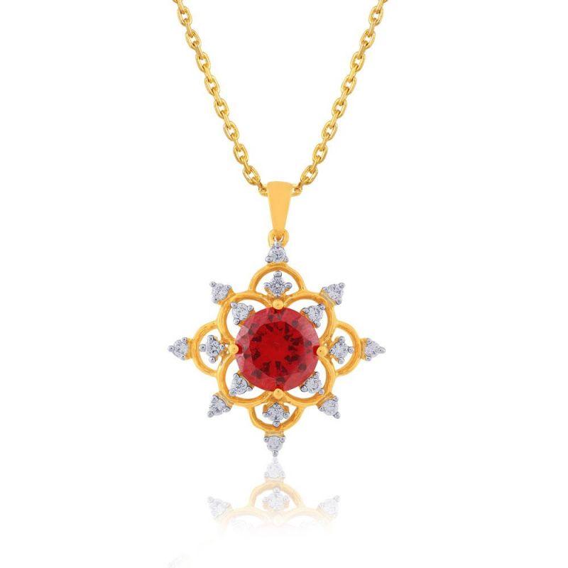 Buy Parineeta Yellow Gold Diamond Pendant Bap333si-jk18y online
