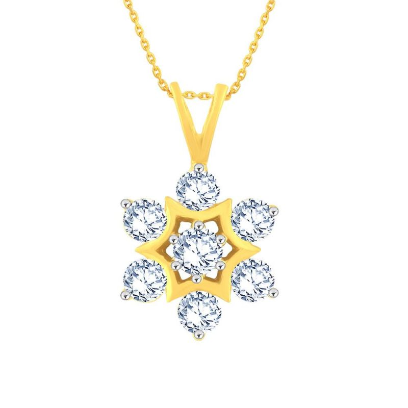 Buy Nakshatra Yellow Gold Diamond Pendant Dp700si-jk18y online