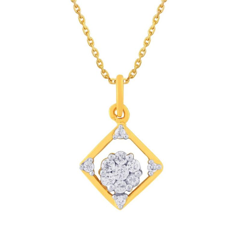 Buy Nirvana Yellow Gold Diamond Pendant Dsp00114si-jk18y online