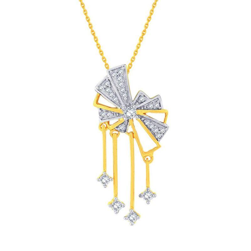 Buy Sangini Yellow Gold Diamond Pendant Ep732si-jk18y online