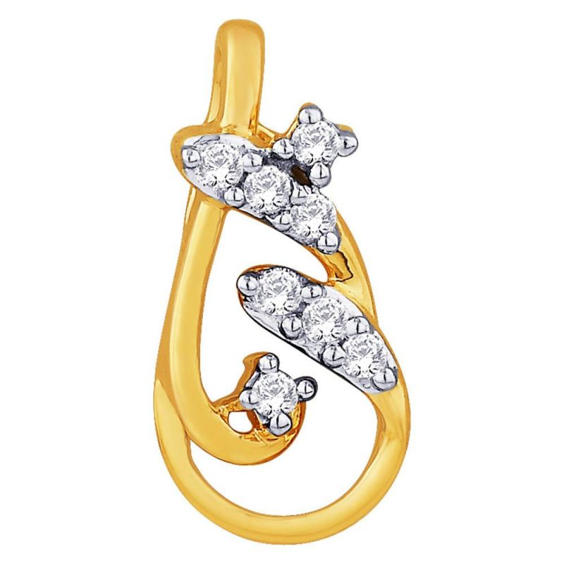 Buy Sangini Yellow Gold Diamond Pendant Idp00297si-jk18y online