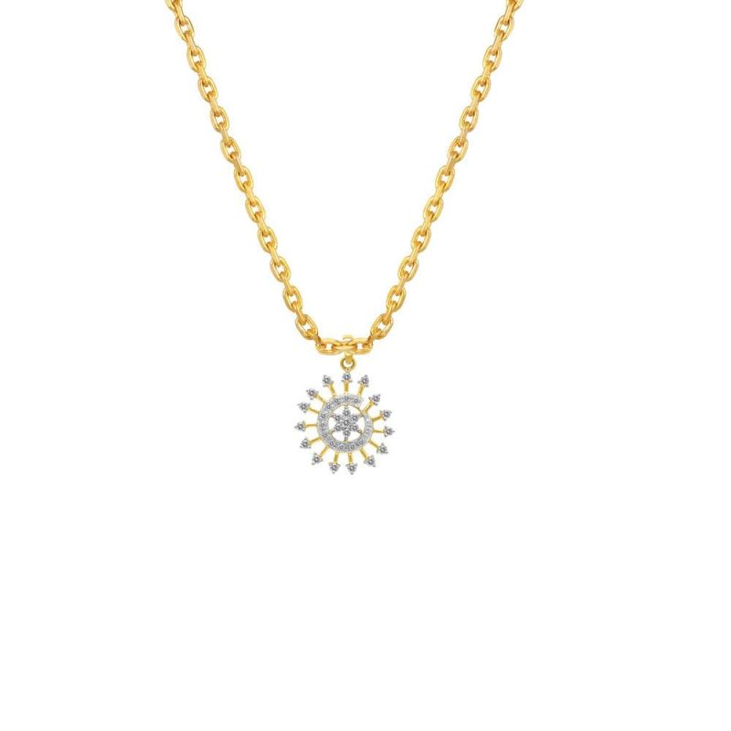 Buy Maya Diamond Yellow Gold Diamond Pendant Npc339si-jk18y online
