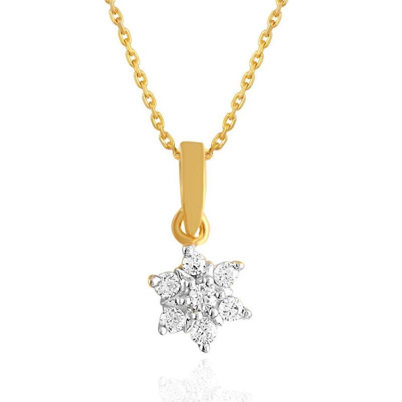 Buy Nakshatra Yellow Gold Diamond Pendant Npc512si-jk18y online